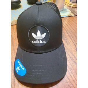 Adidas Originals Men's Circle Mesh Snapback Hat Cap Black White Adjustable Truck